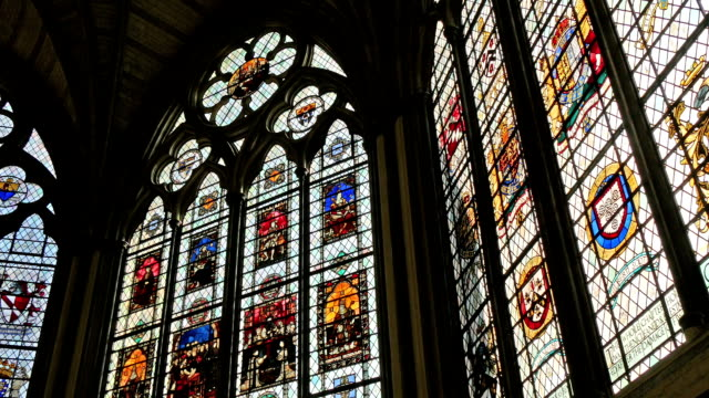 Pretty stained glasses on Westminster Abbey video
