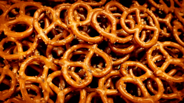 Pretzels Rotating On Plate video