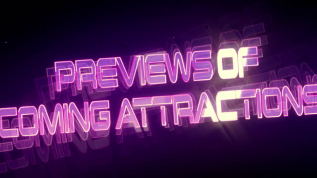 Previews of Coming Attractions (Retro Logo) video
