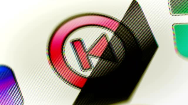 vorherigen symbol auf dem bildschirm. looping. - zahlentastatur stock-videos und b-roll-filmmaterial
