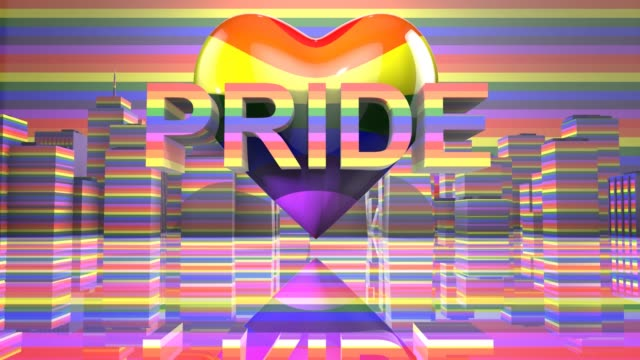 Pride Day LGBTQIA Gay Pride LGBT Mardi Gras graphic title 3D render LGBTQIA+ Community Gay Pride LGBT Mardi Gras graphic title 3D render. The letters LGBT & LGBTQIA refer to lesbian, gay, bisexual, transgender, queer or questioning, intersex, and asexual or allied. cisgender stock videos & royalty-free footage