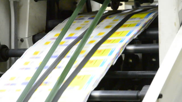 prihting plant webset press printing newspaper for publishing - lithograph stock videos & royalty-free footage