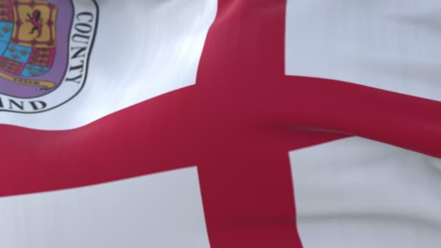 vídeos y material grabado en eventos de stock de bandera del condado de prince george, maryland, estados unidos - bucle - zona urbana