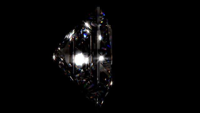 Princess cut diamond loopable video