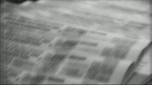 stampa di giornali-stile retrò - newspaper paper video stock e b–roll