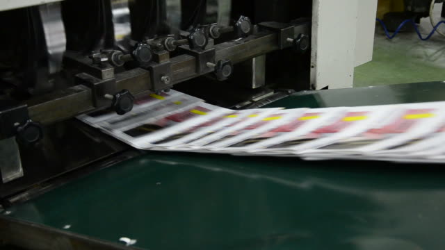 print shop, offset web set printing newspaper, magazine production line video