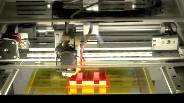 3 D impressora no trabalho - vídeo