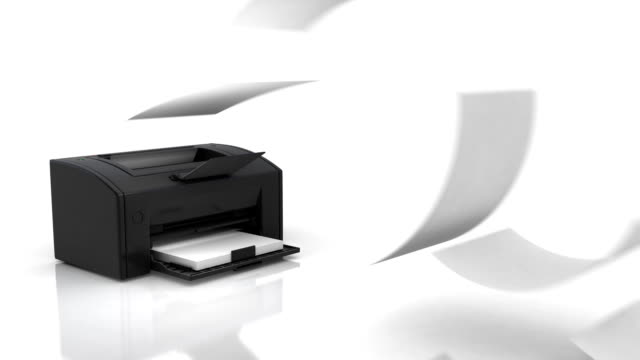Printer in action video