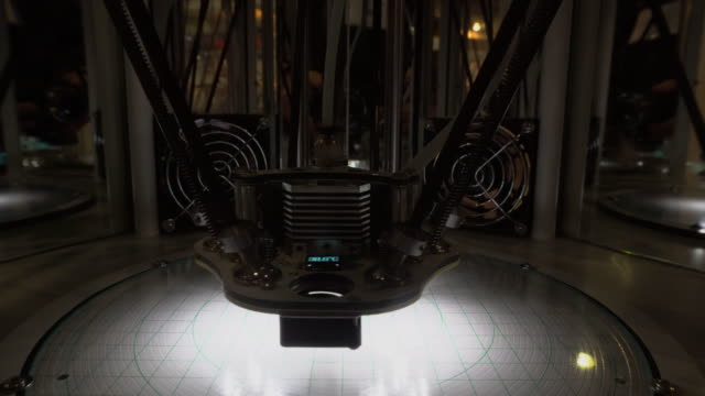 3D printer operation close-up video