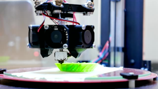 3D printer performs product creation video