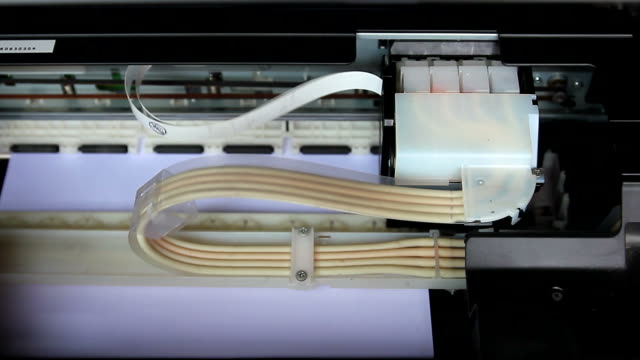 Printer printing a paper video