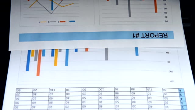 Printer Prints Business Report
