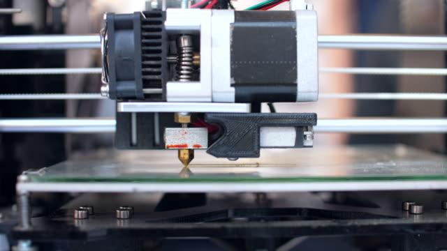 3Dプリンタ、クローズアップショット。 ビデオ