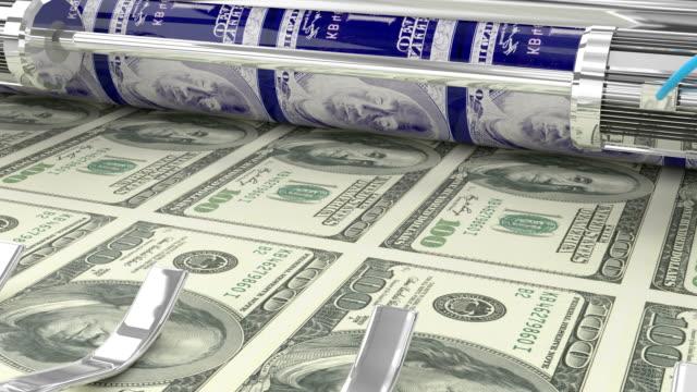 印刷 100 アメリカドルマネー紙幣 - 4k - 紙幣点の映像素材/bロール