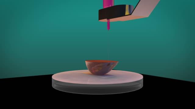 vídeos de stock, filmes e b-roll de 3d printing um rim humano, 4k. ultra hd - rim órgão interno