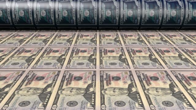 Printing fifty dollar bills video