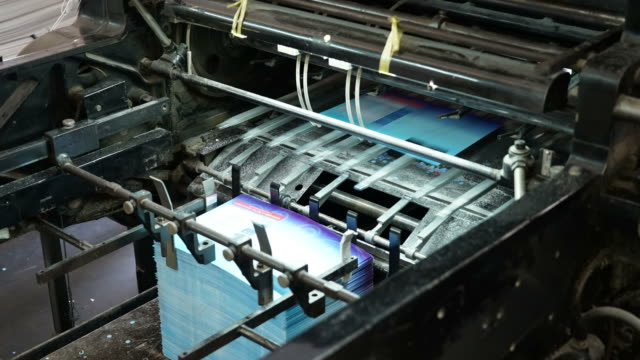 printing machine - timelapse video