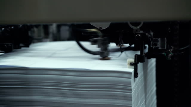 Printing machine video
