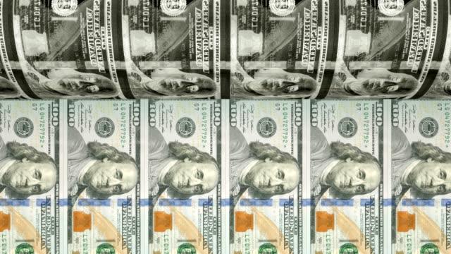 vidéos et rushes de impression de nouveaux billets de $100 dollars   loopable - presse