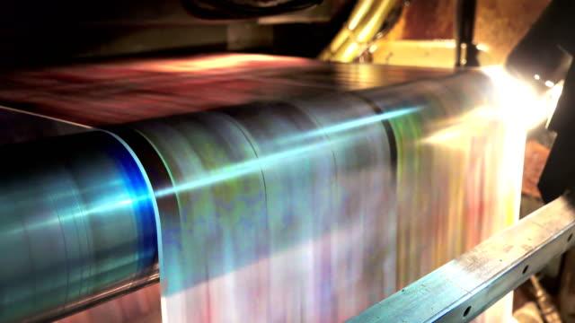 printing newspapers in typography, loop background video
