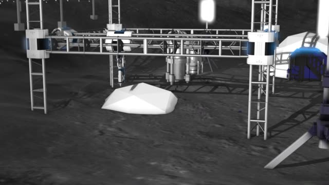 3D printing of a building on the moon video