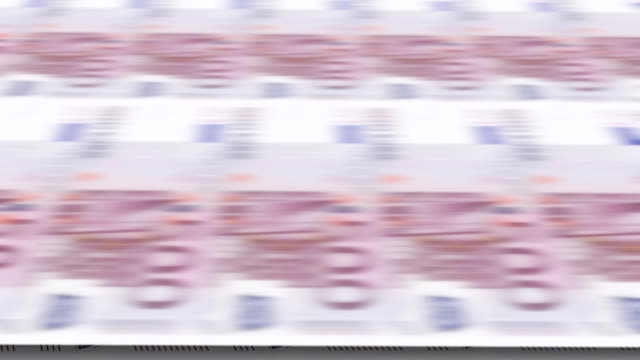 Printing of banknotes 500 euros. Looped 3d animation. Printing of banknotes 500 euros. Looped 3d animation. Clip can be used for business and financial and monetary transactions printmaking technique stock videos & royalty-free footage