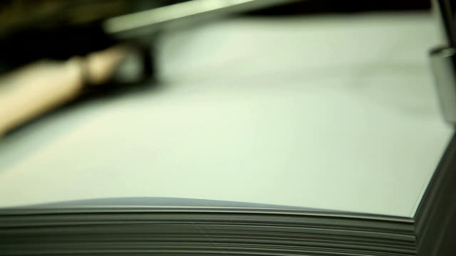 printing of documents , close-up video