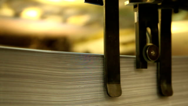 Printing of newspapers in the print shop video