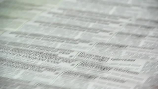 Printing of newspapers video