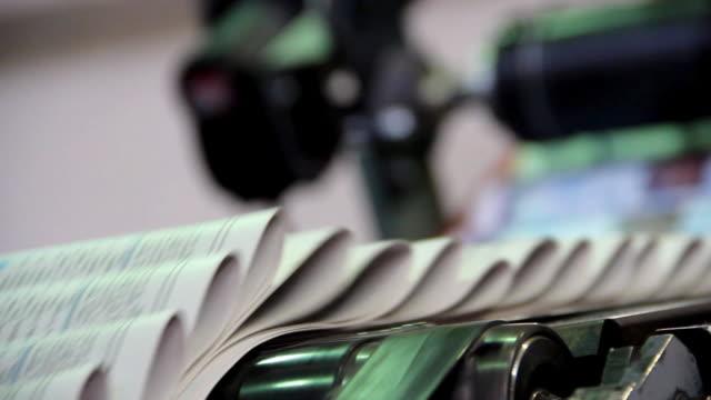 printing of newspapers - newspaper stok videoları ve detay görüntü çekimi