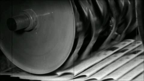 vidéos et rushes de impression de journaux - vintage