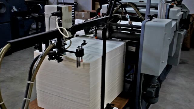 printing press - lithograph stock videos & royalty-free footage