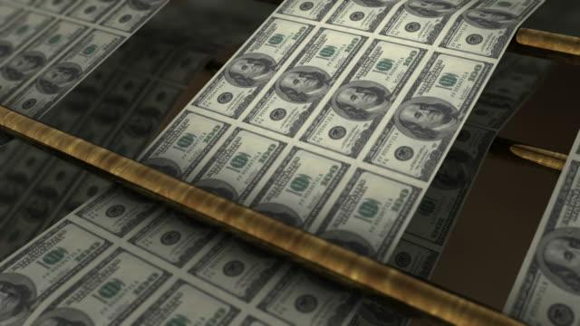 Printing US dollar banknotes video