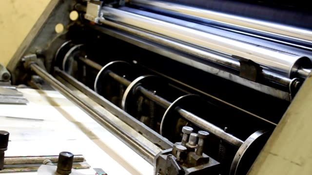 printing - lithograph stock videos & royalty-free footage