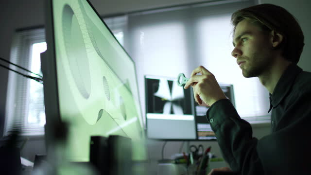 CAD 3D printing young man
