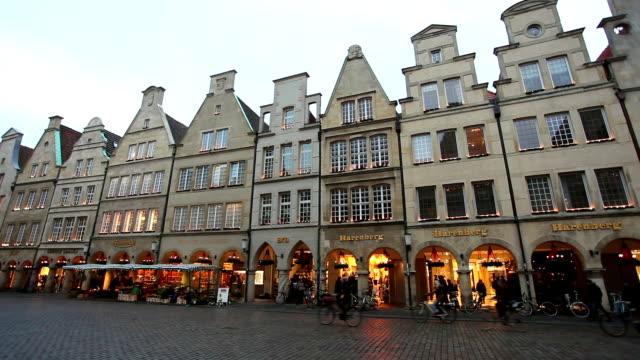 Prinzipalmarkt in Münster, Germany - Real Time video
