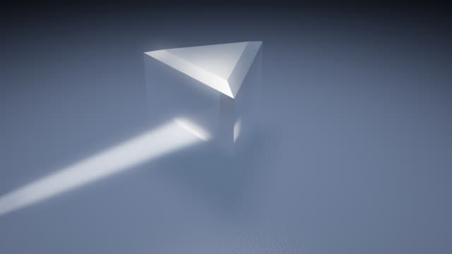 Prism Light Spectrum With Glare (HD, PAL, NTSC)  refraction stock videos & royalty-free footage