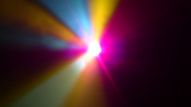 Prism Light Multicolor light beams spinning around central source. prism stock videos & royalty-free footage