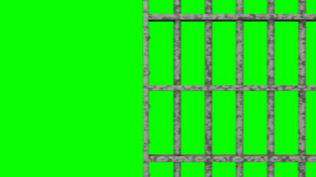 bar di prigione di animazione - prigione video stock e b–roll