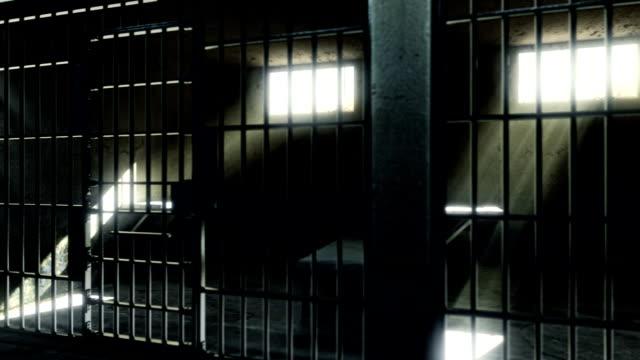 prison cells. - prigione video stock e b–roll