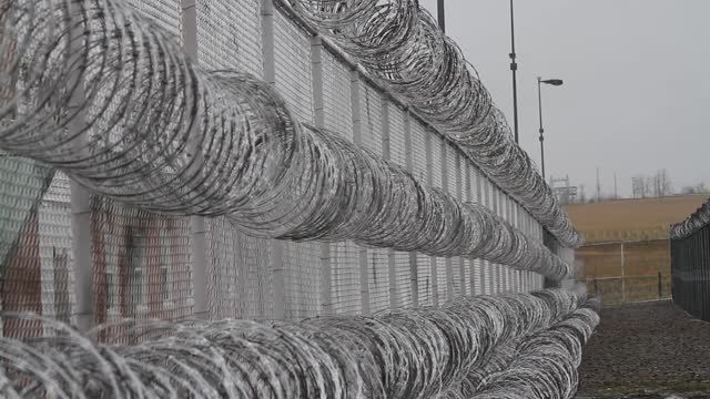 Prison Fence and razor wire