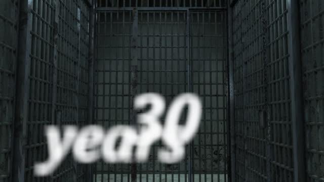 Prison. Hall jail poster 30 years alone. Image generated in 3D, prisión. Pasillo cárcel cartel 30 years alone. Imagen generada en 3D video