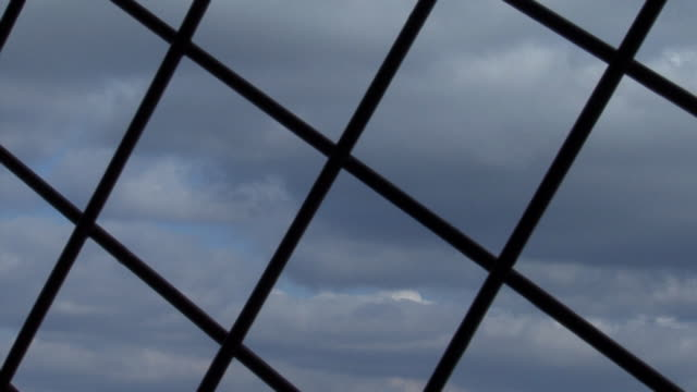 prison the sky view from the prison prison bars stock videos & royalty-free footage