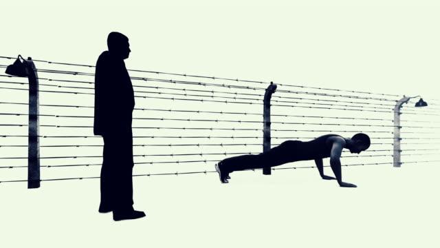 Prisoner forced to make pushups in prison