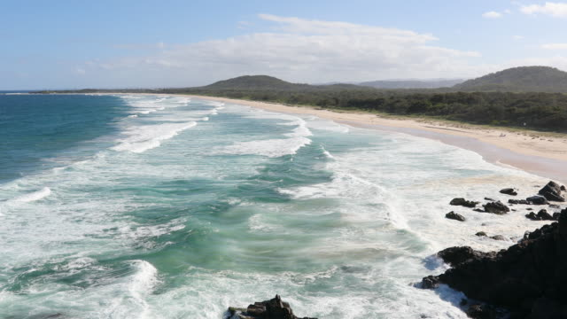 Pristine Clean Beach at Cabarita, NSW, Australia video