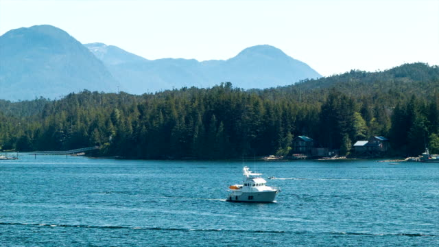 Private Boat in Ketchikan Alaska Private Boat in Ketchikan Alaska Sailing Through the Prestine Nature on a Hot and Sunny Summers Day military private stock videos & royalty-free footage