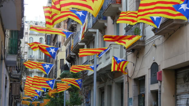 Pro Independence Catalonian Flagstaff in a Windy Day video