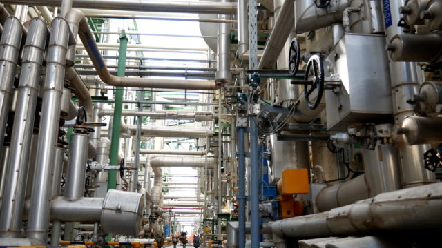 Process area structure of oil refinery plant video