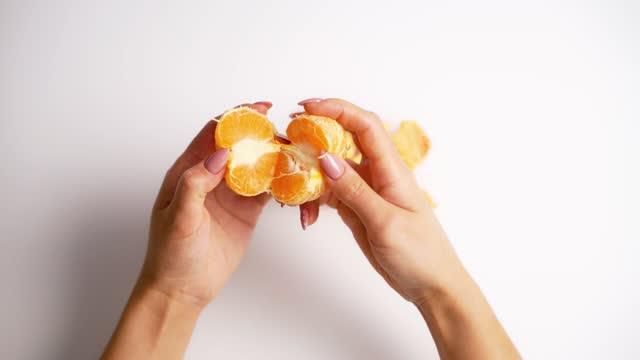 Process of clearance the mandarin.
