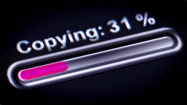 vídeos y material grabado en eventos de stock de proceso de copia de - copiar